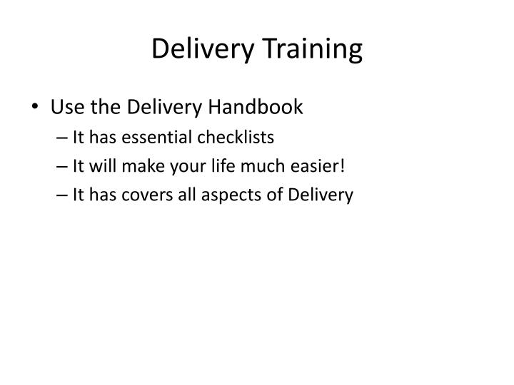 delivery training n.