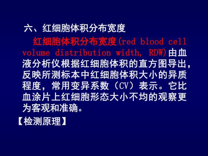 六、红细胞体积分布宽度