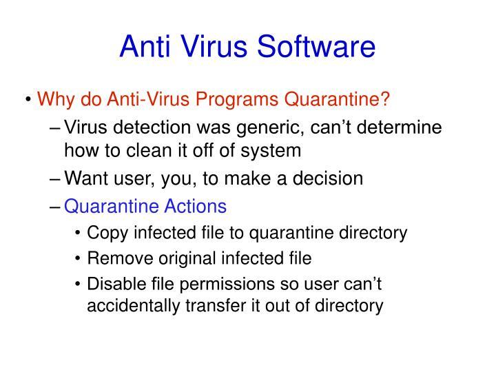 Anti Virus Software