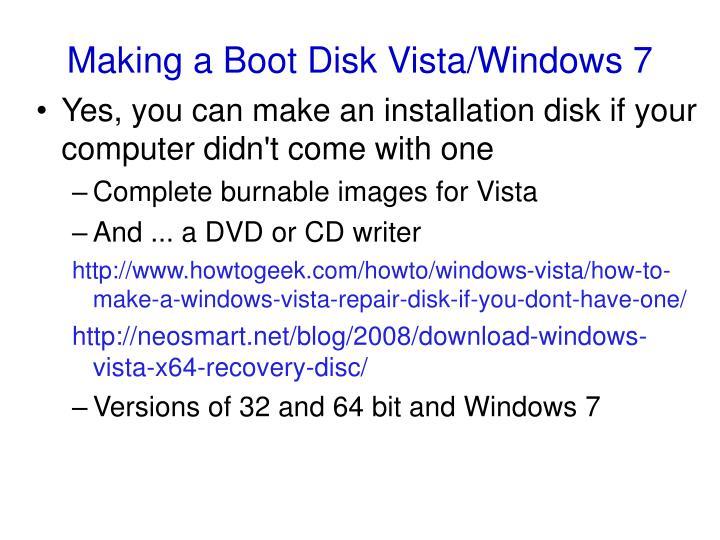 Making a Boot Disk Vista/Windows 7