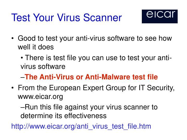 Test Your Virus Scanner