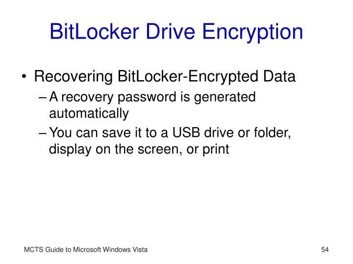 BitLocker Drive Encryption