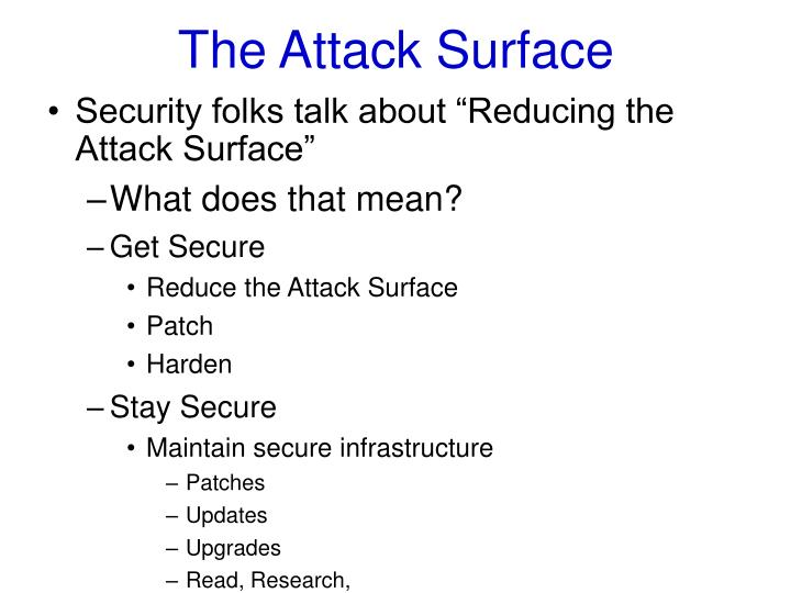 The attack surface