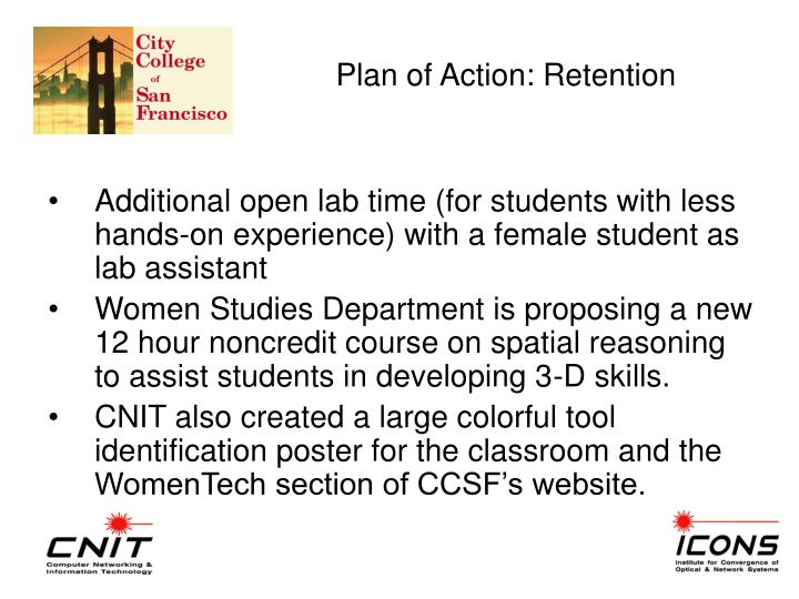 Plan of Action: Retention