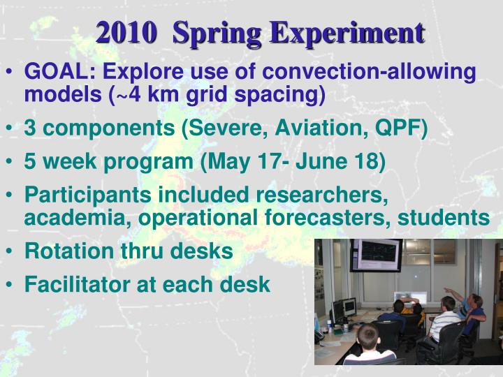 2010  Spring Experiment