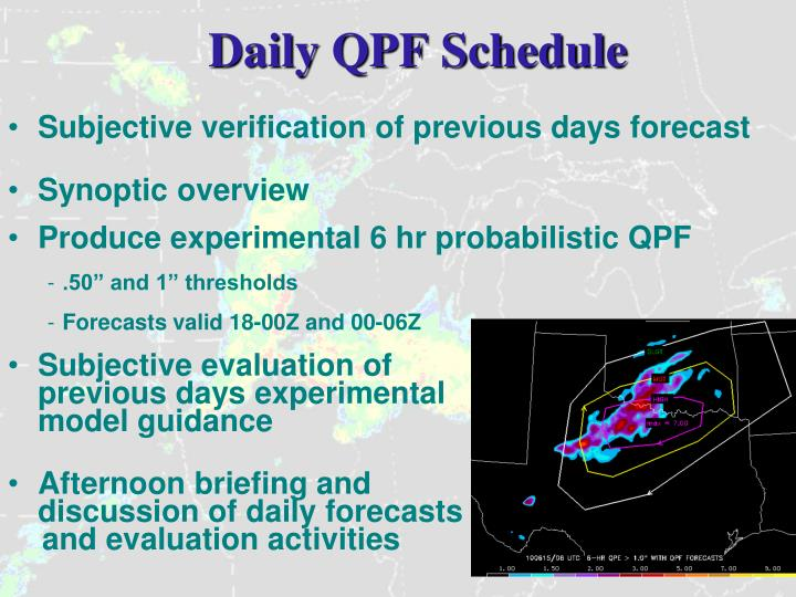 Daily QPF Schedule