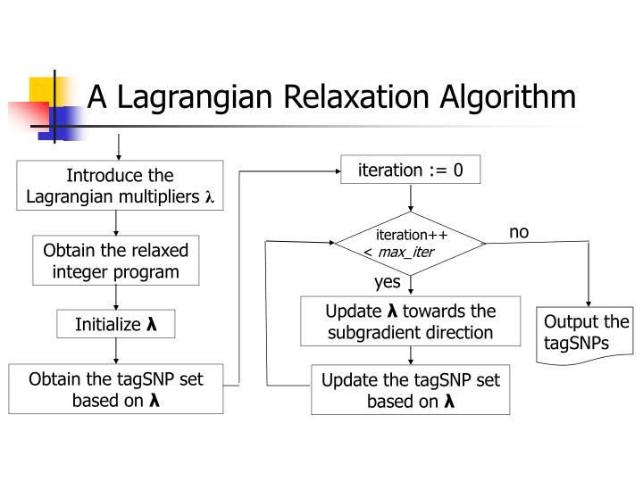A Lagrangian Relaxation Algorithm