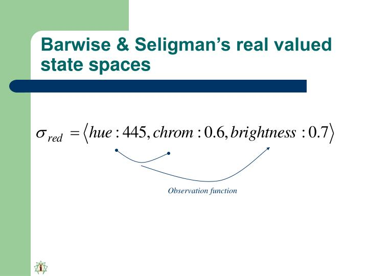 Barwise & Seligman's real valued state spaces