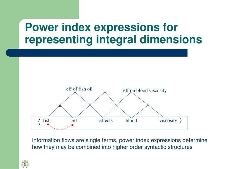 Power index expressions for representing integral dimensions