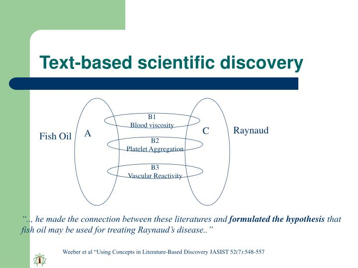 Text-based scientific discovery