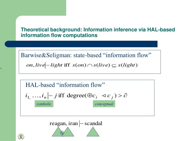 Theoretical background: Information inference via HAL-based information flow computations