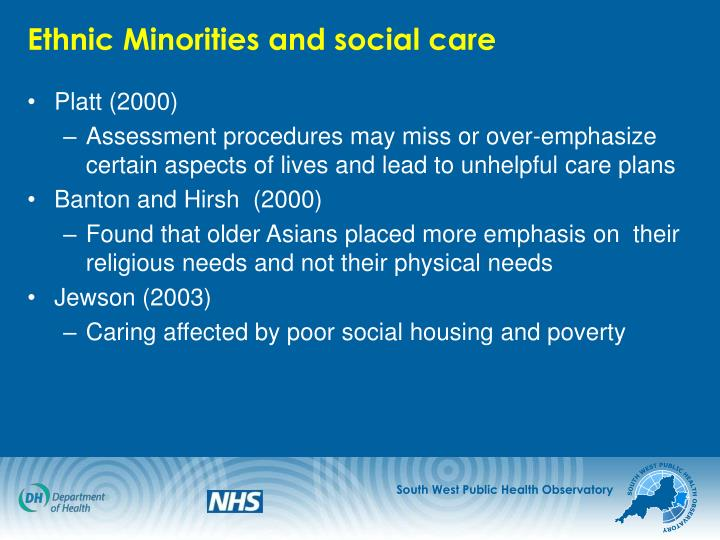 Ethnic Minorities and social care