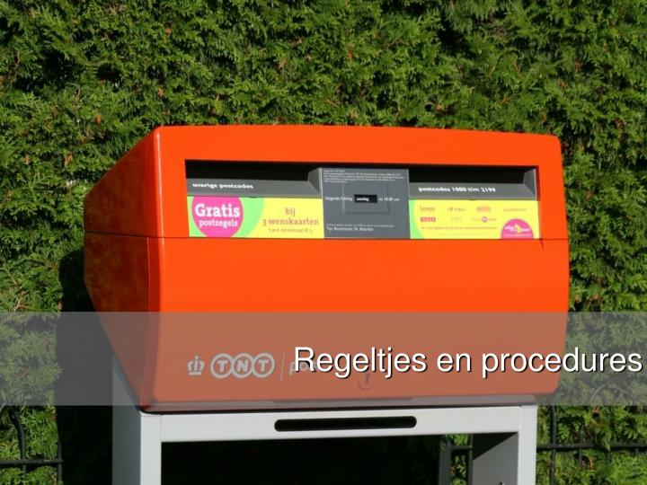 Regeltjes en procedures
