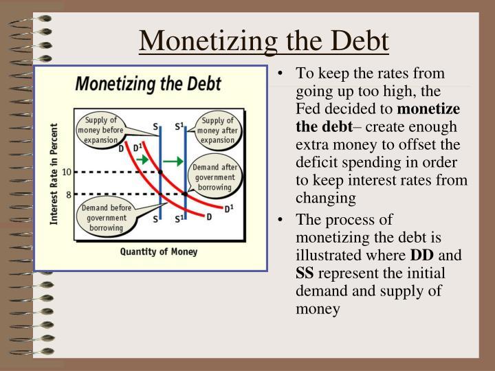 Monetizing the Debt