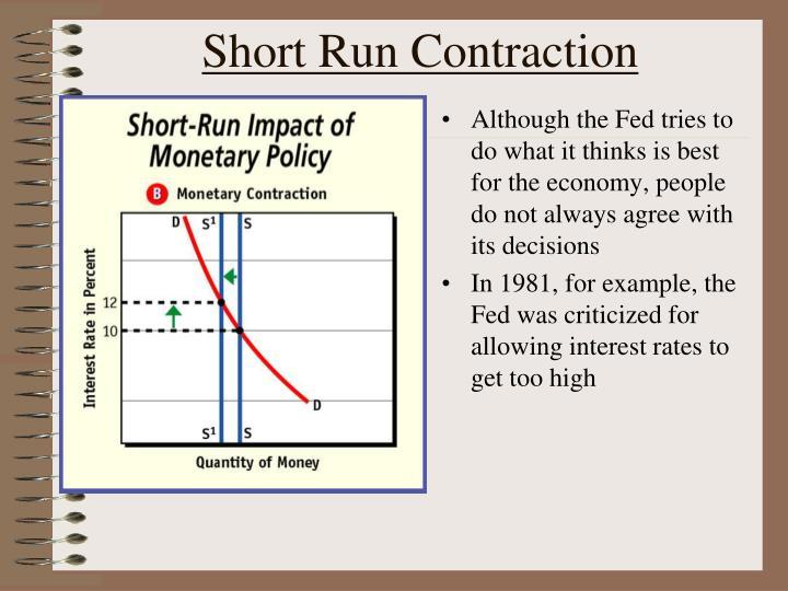 Short Run Contraction