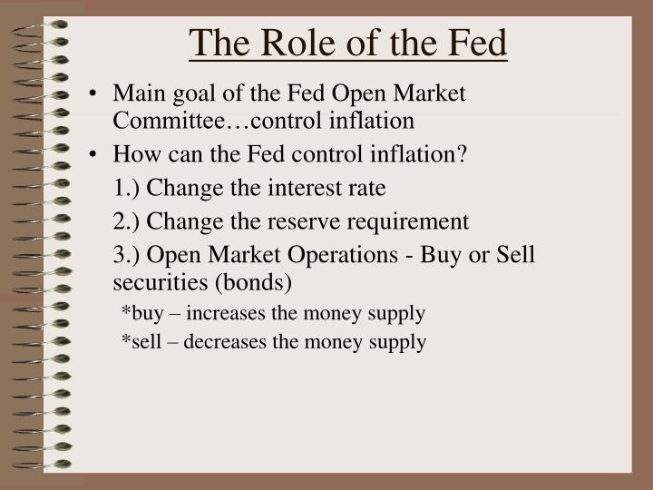 The Role of the Fed