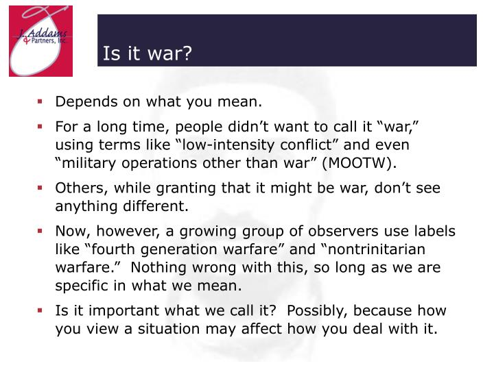 Is it war