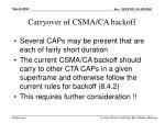 carryover of csma ca backoff