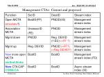 management ctas current and proposed
