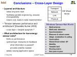 conclusions cross layer design