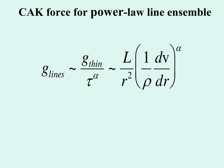 CAK force for