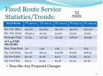 fixed route service statistics trends