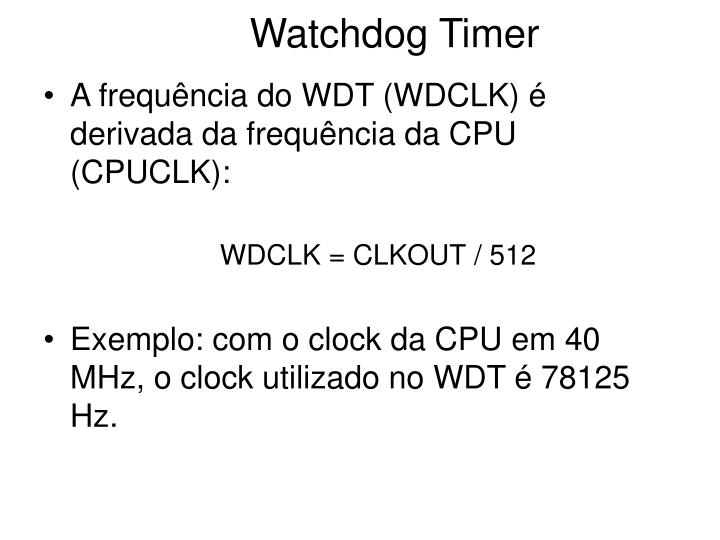 Watchdog timer1