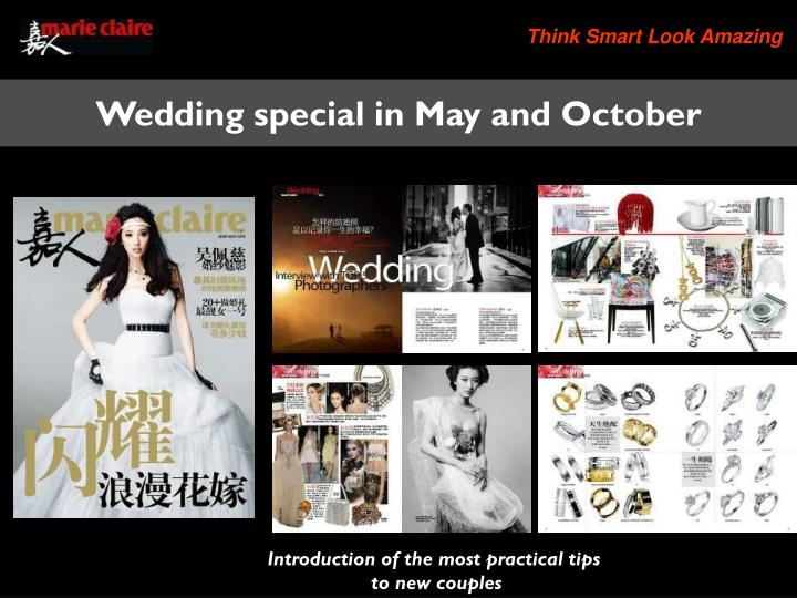 Wedding special in May and October