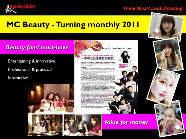 MC Beauty - Turning monthly 2011