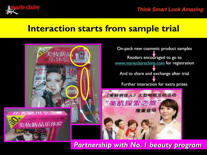 On-pack new cosmetic product samples