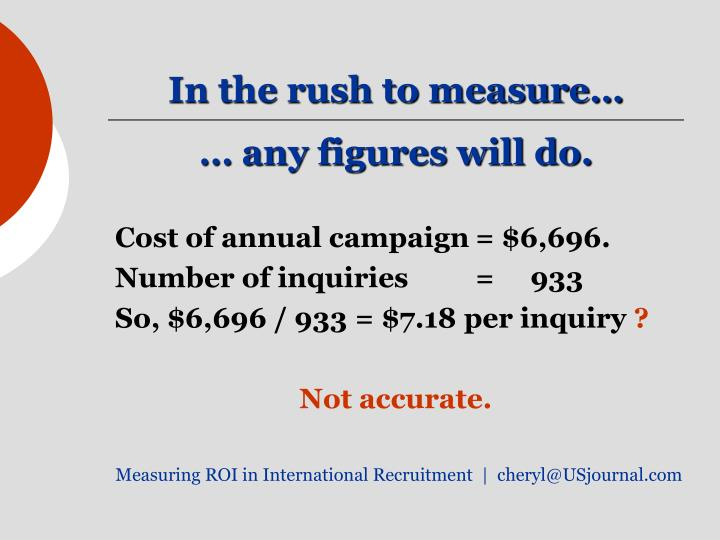 In the rush to measure…
