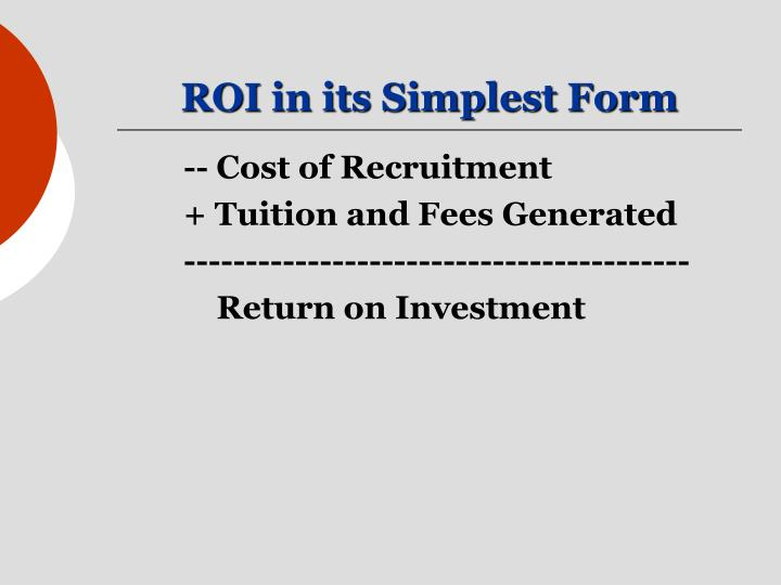 ROI in its Simplest Form