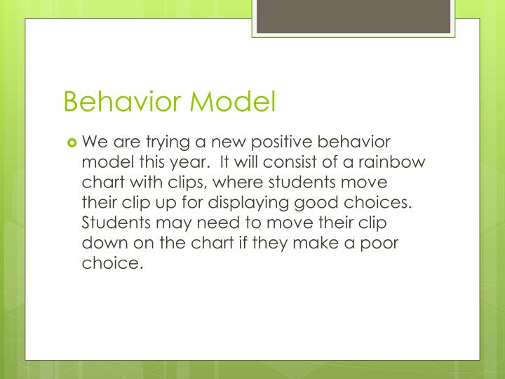 Behavior Model