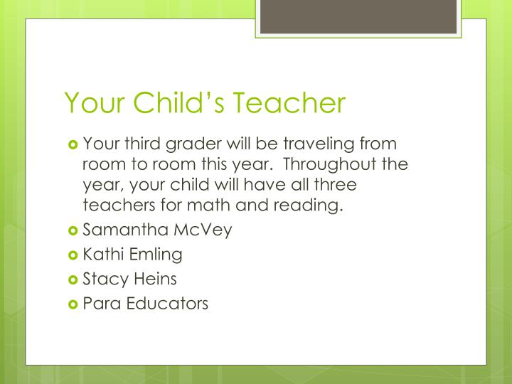 Your child s teacher