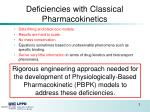 deficiencies with classical pharmacokinetics