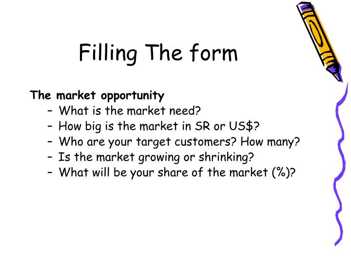 how about the market need of As a first step to determining the potential market for your new product or service, you want to focus on asking a couple of questions of yourself first, says victor kwegyir, a business consultant, business motivational speaker, and author of the business you can start: spotting the greatest opportunities in the economic downturn.