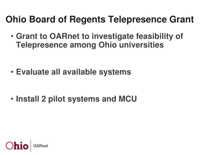 Ohio board of regents telepresence grant