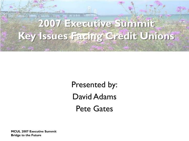 2007 Executive Summit