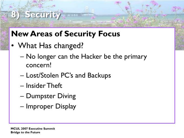 8)  Security