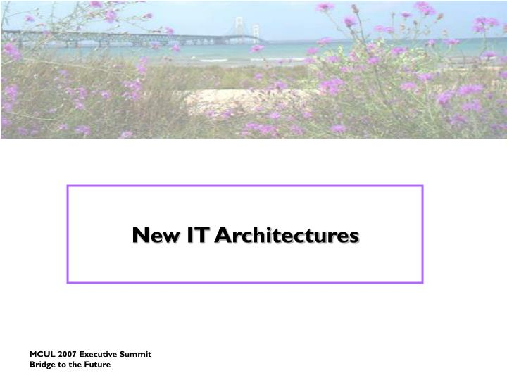 New IT Architectures