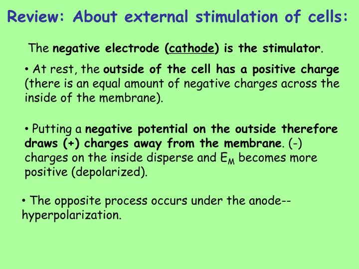 Review about external stimulation of cells