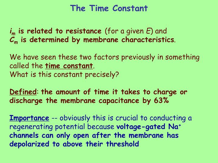 The Time Constant