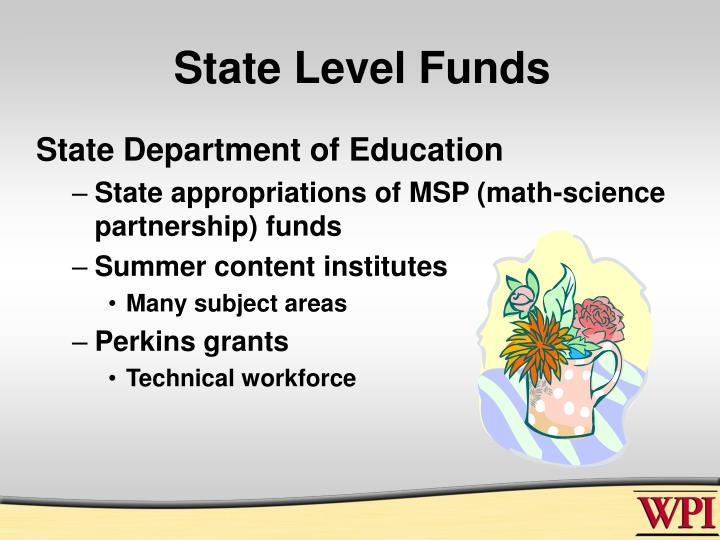 State Level Funds