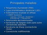 principales maladies