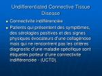 undifferentiated connective tissue disease