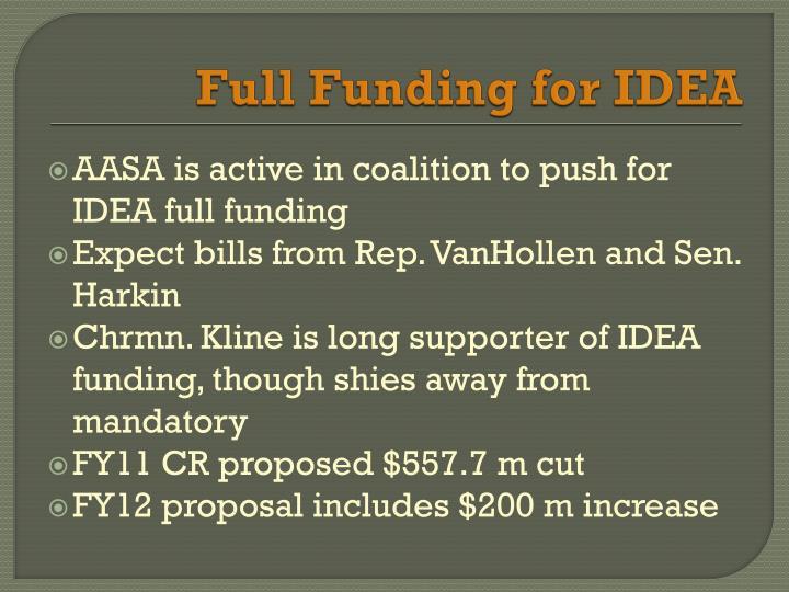 Full Funding for IDEA