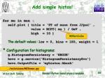 add simple histos
