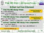 find mc tree imcdecayfinder