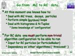 go from mc to rc data