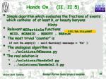 hands on ii ii 5